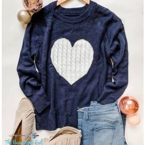 Enchanted Heart Sweater Small